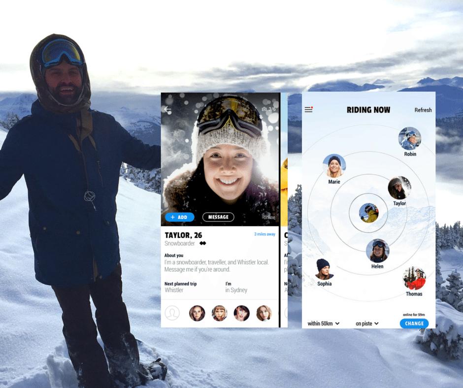 GoSnow app solo skiers