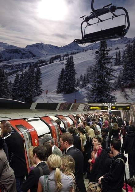 Ski season commute