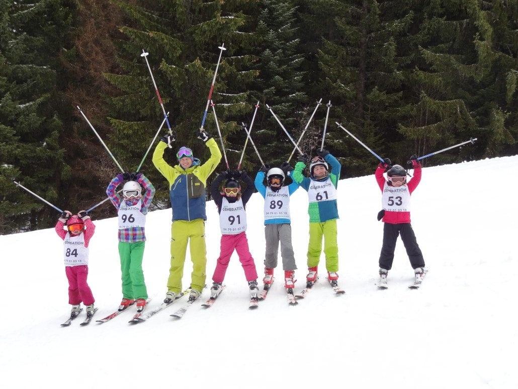 Morzine kids skiing