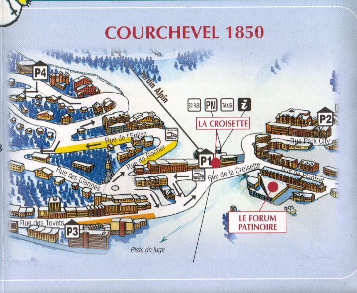 Courchevel 1850 Village Map