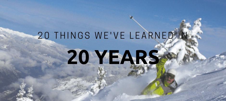 20 things we've learned in 20 years