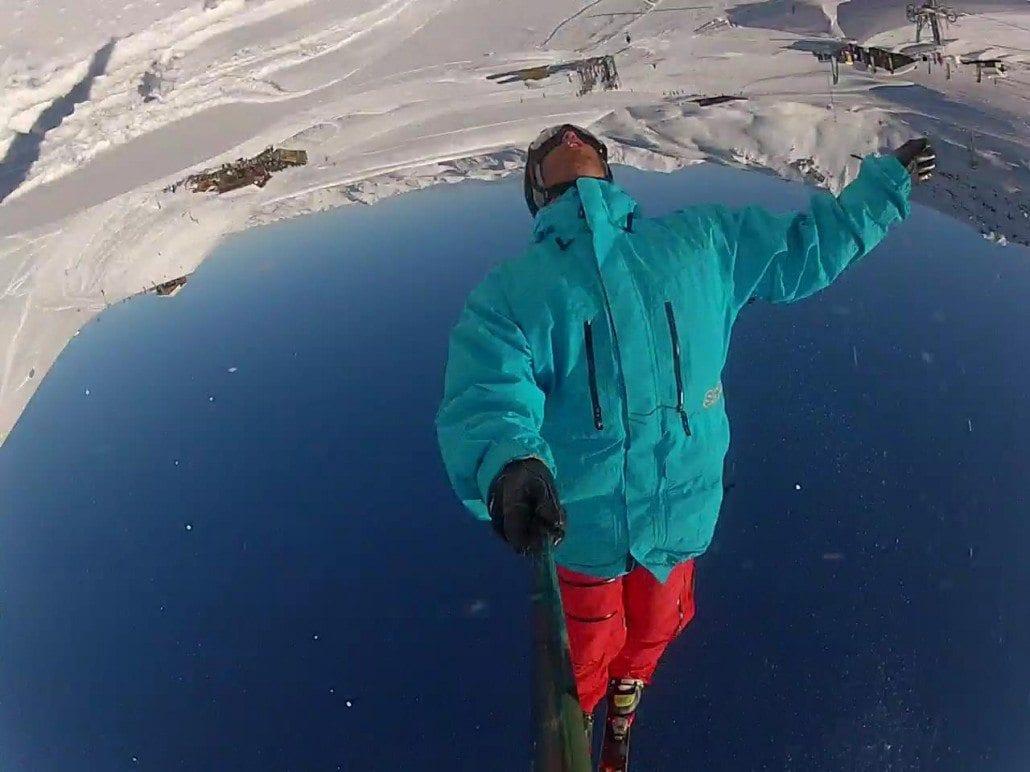 Backflip selfie ski season packing list
