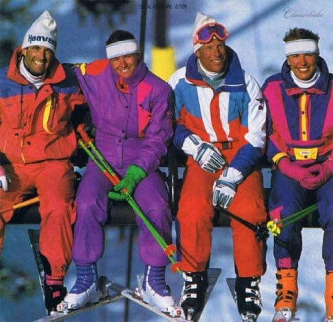 1980's ski style