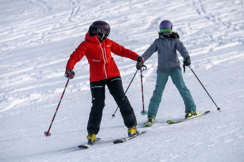 Adult ski lessons