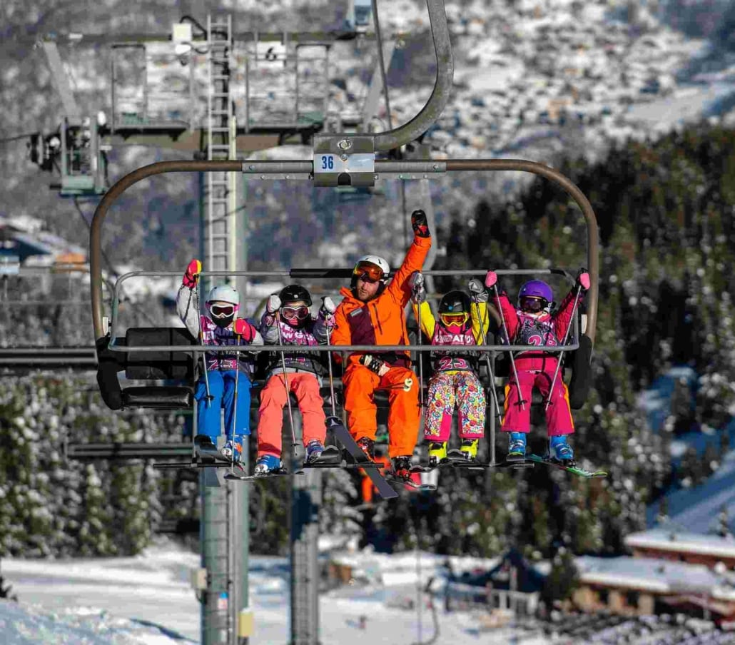 Family chair lift rides