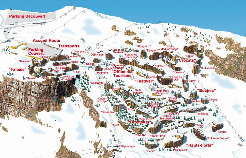 Avoriaz Village Map