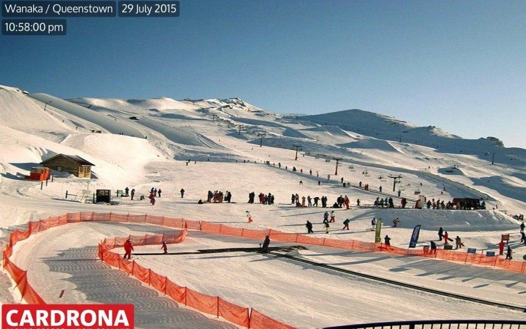 Summer skiing in Cardrona