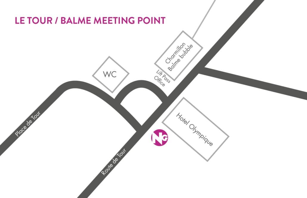 Chamonix Le Tour Meeting Point