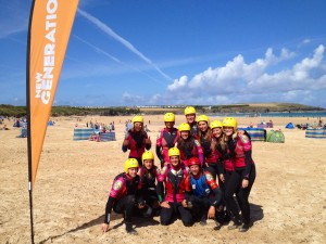 Team coasteering
