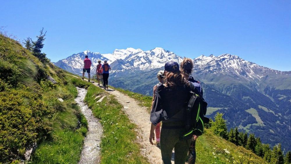 hiking summer in the alpshiking summer in the alps