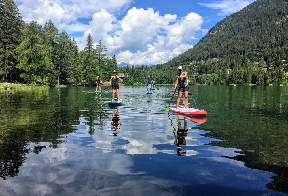 SUP lake alps summer
