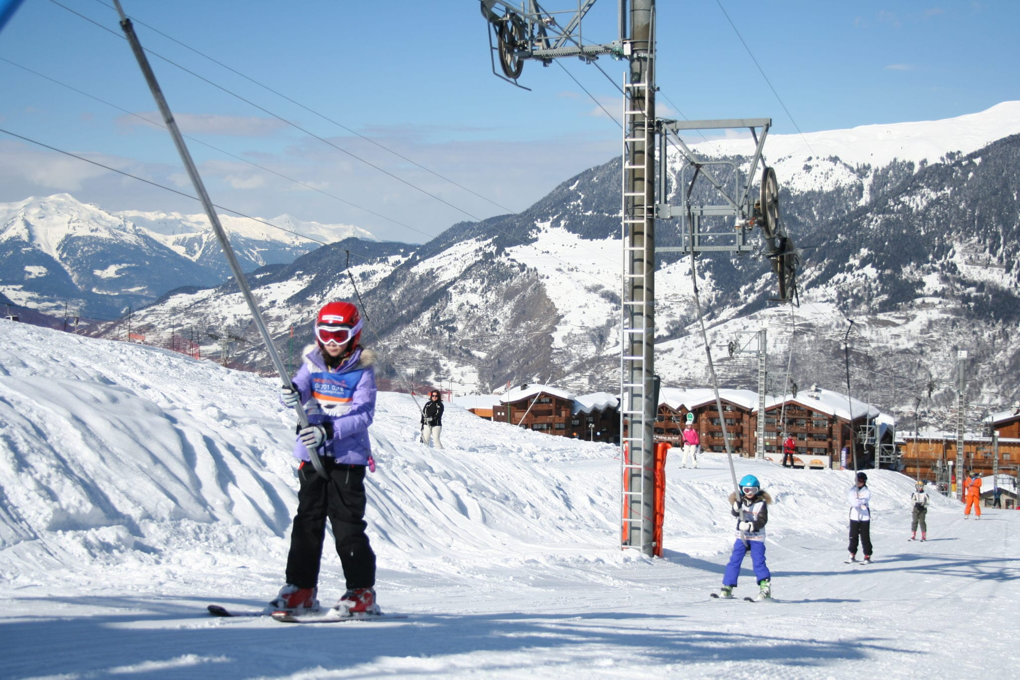 learning to ski in Courchevel
