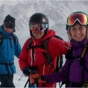 Off piste skiing in Verbier - with packs