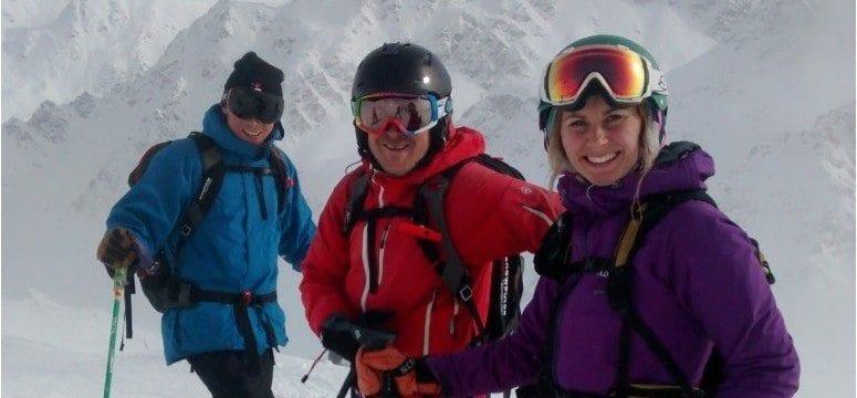 Off piste skiing in Verbier - with packs