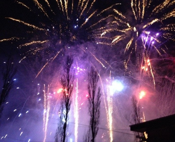 Fireworks in Courchevel, France