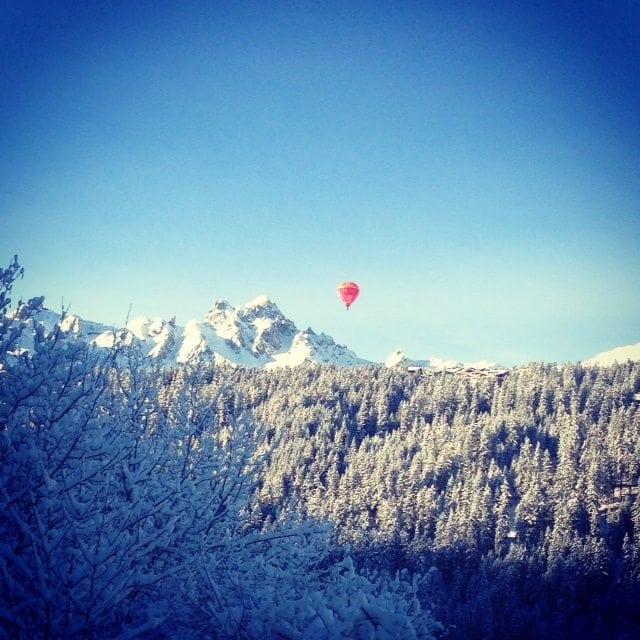 Courchevel hot air balloon