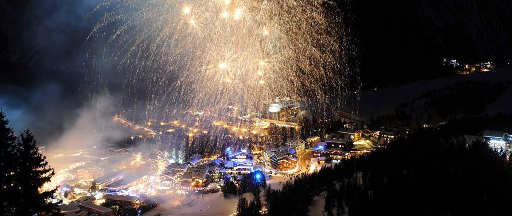 Impressive fireworks in Courchevel
