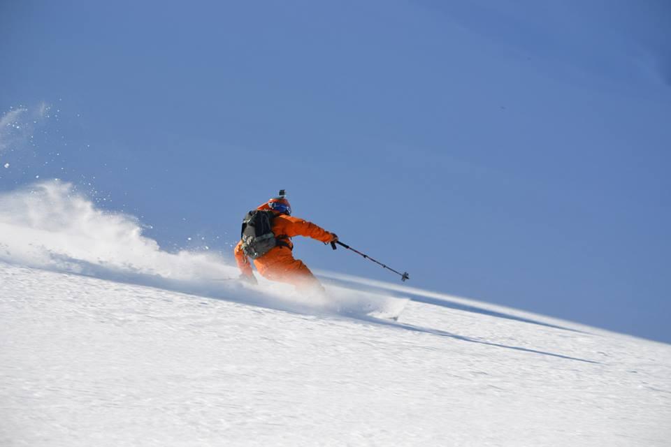 Jon Ahlsén skiing in Kyrgyzstan