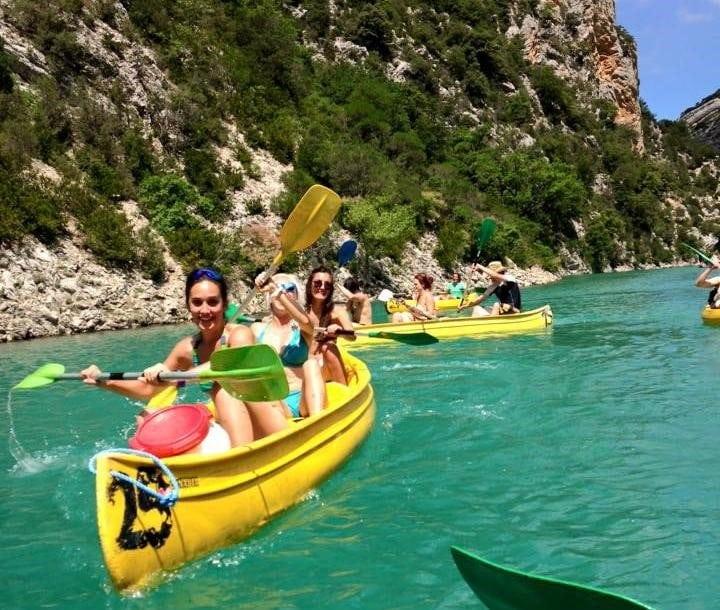 kayaking Verdons gorge