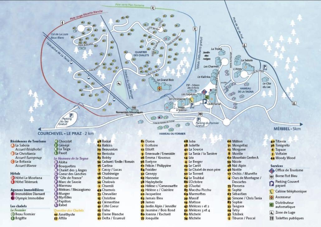 La Tania Village Map