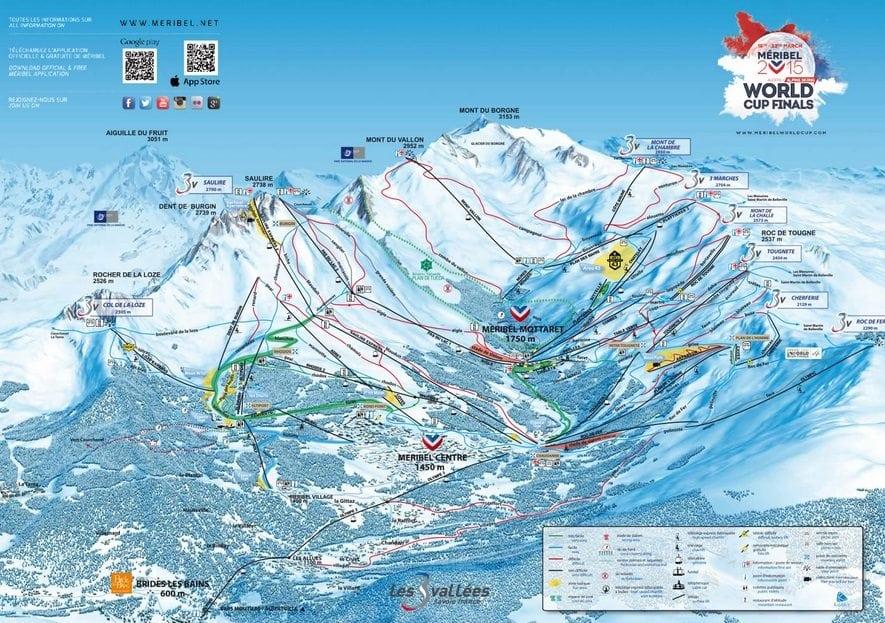 Meribel Piste Map