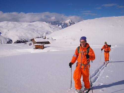Josh sets off at the Grand St Bernard Pass