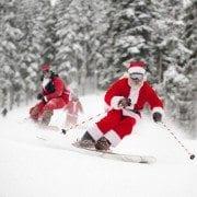 Santa-Skiing