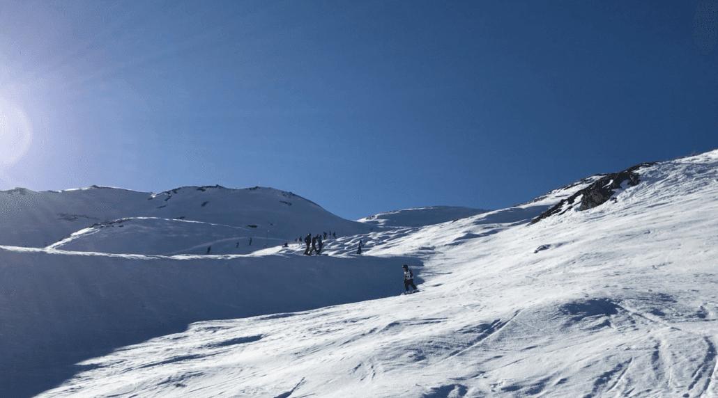 Skiing around Les Arcs 2000