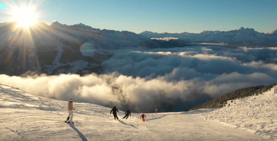 scenic skiing shot inversion
