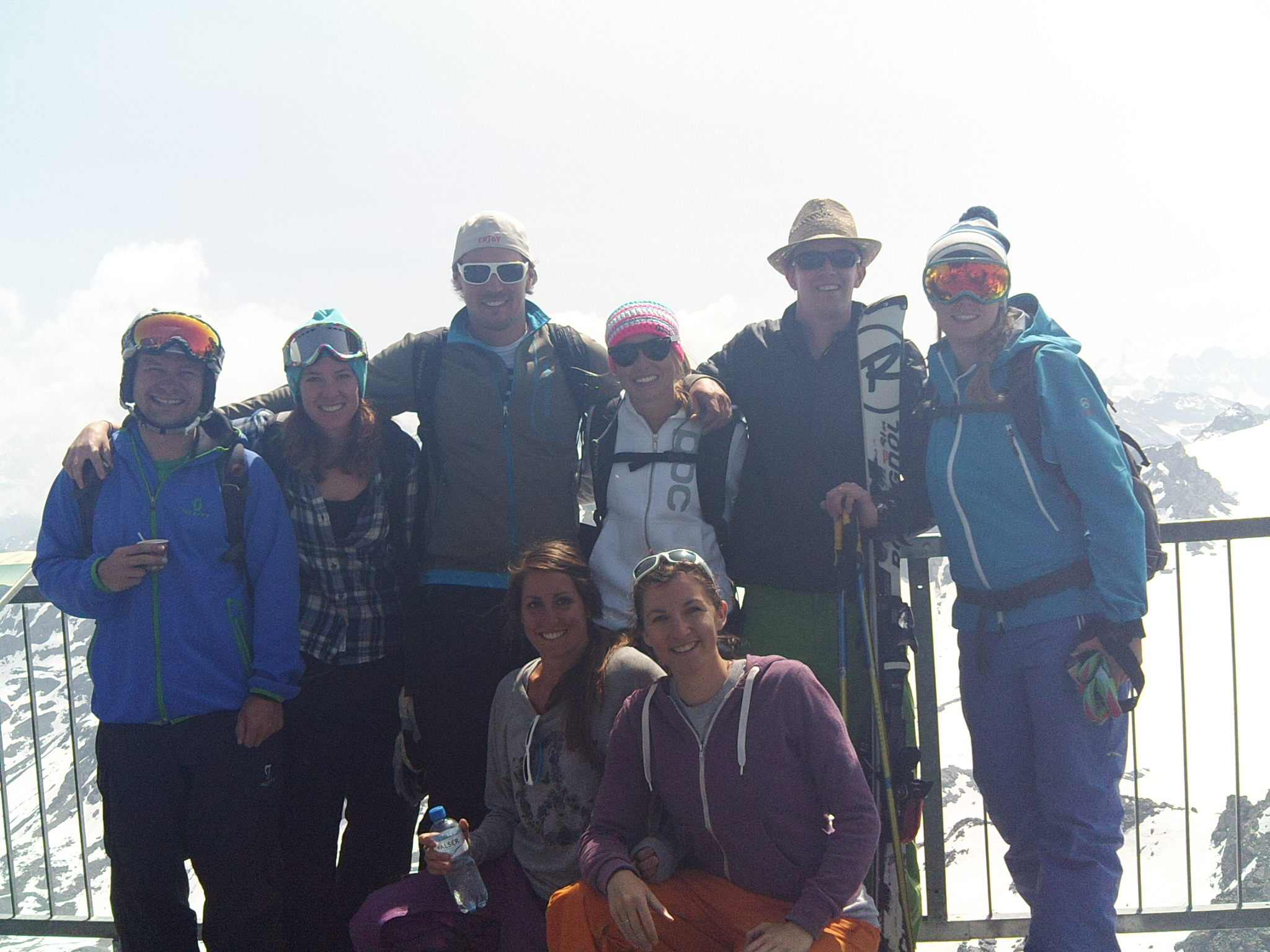 Verbier Ski Schools reunion at the top of Mont Fort