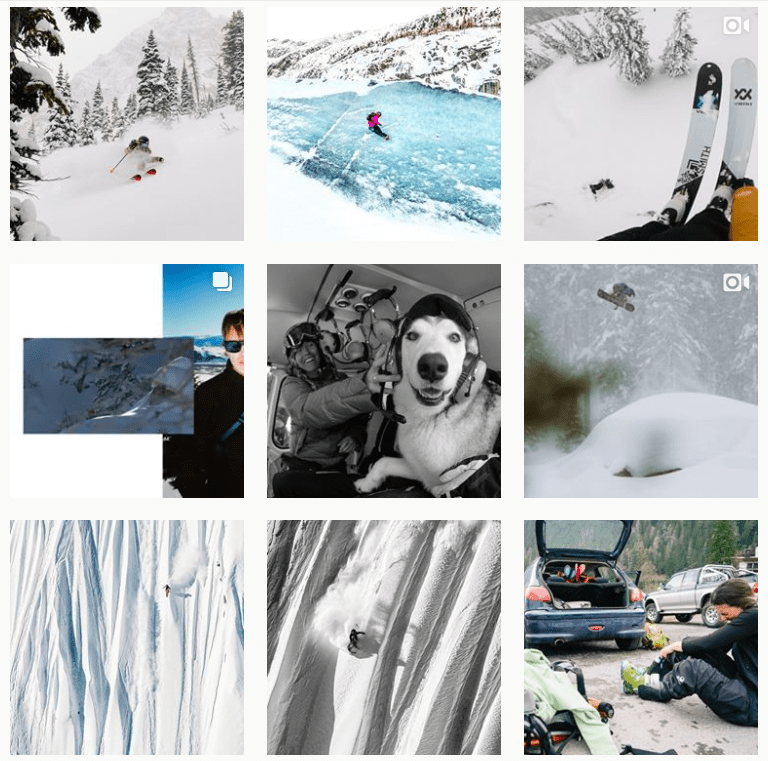 The North Face Snow Instagram