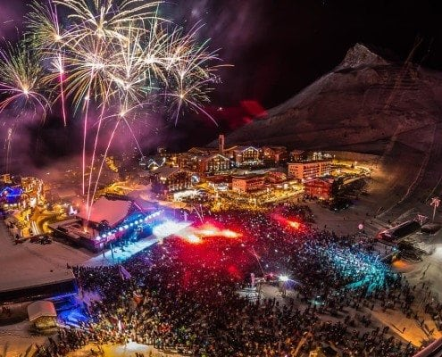 Tignes Fireworks New Year