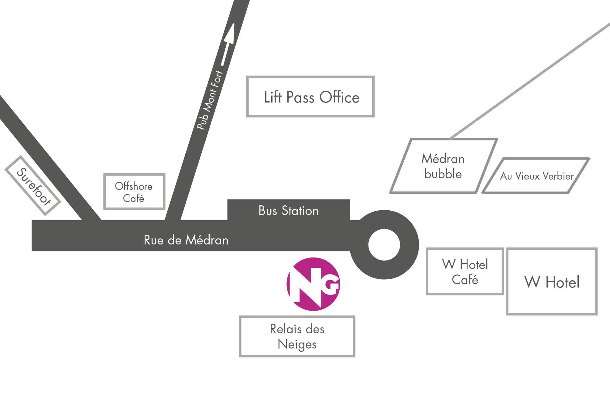 Verbier Meeting Point Map