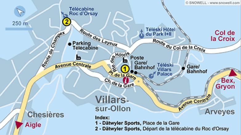 Villars Village Map