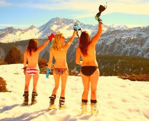 bikini bottoms snow
