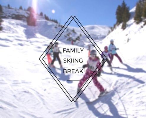 family skiing break