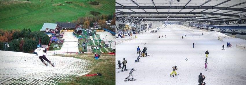 indoor vs. dry ski slope