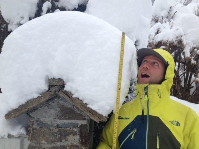 Pete snow report in Courchevel, February