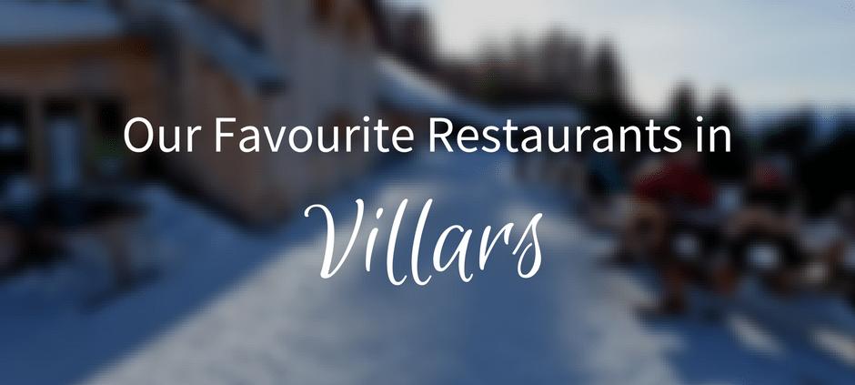 villars restaurants
