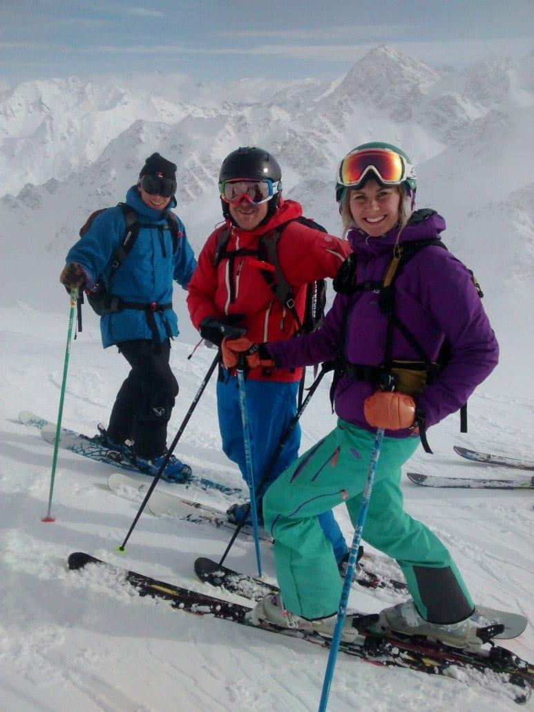 Skiing Mont Gele