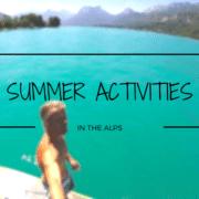 summer activities in the alps