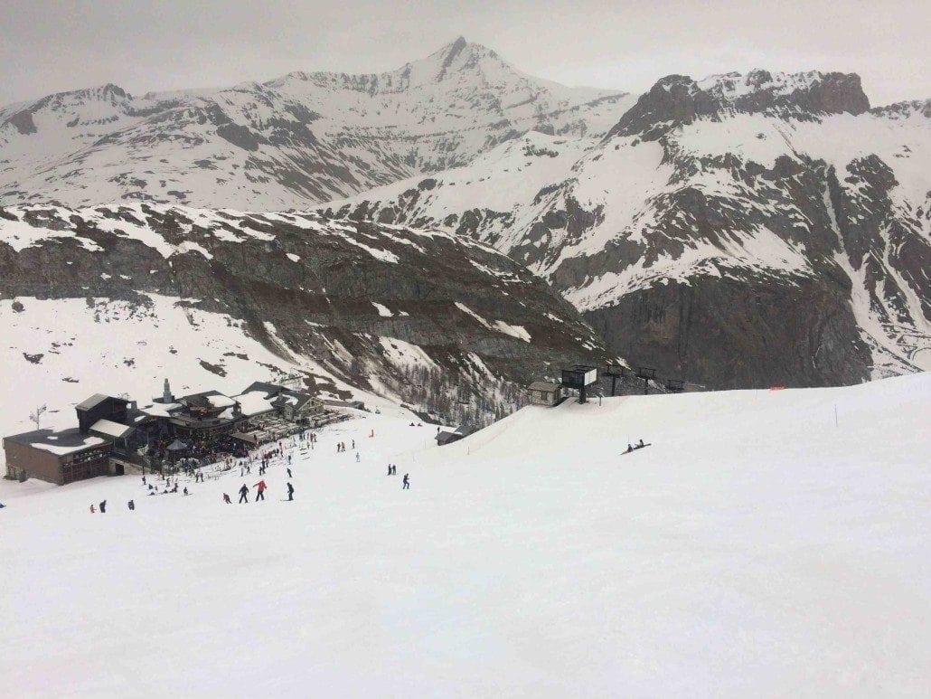 late-season skiing