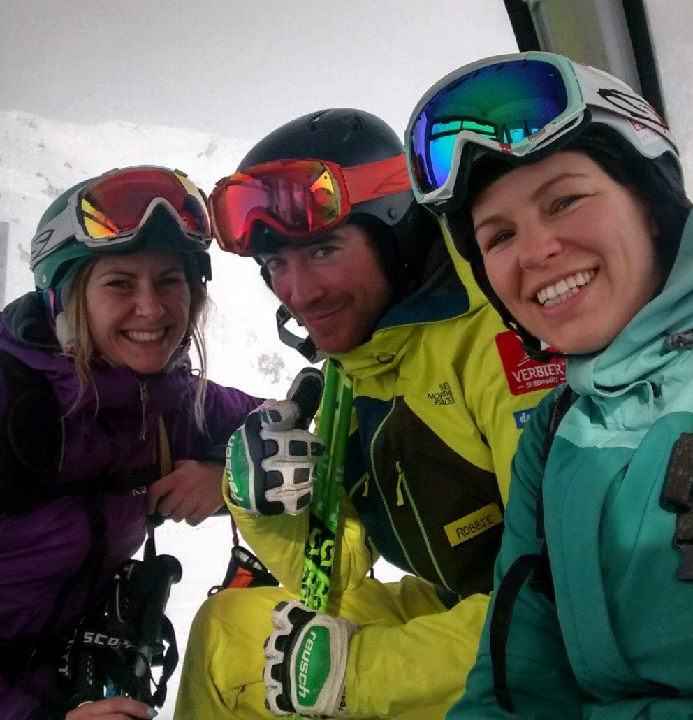 Skiing with Verbier ski instructor