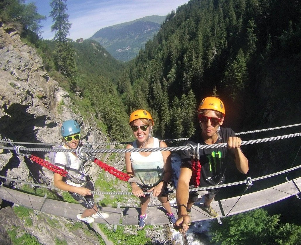 via ferrata in the Alps